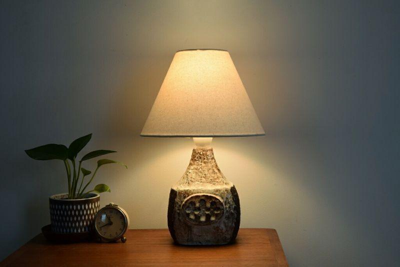 画像1: デンマークの陶器のランプ
