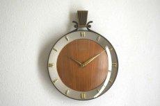 画像1:  Junghans 木と真鍮の掛け時計 (1)