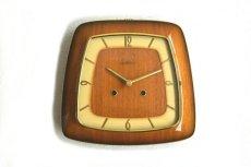 画像1: national 木と真鍮の壁掛け時計 (1)