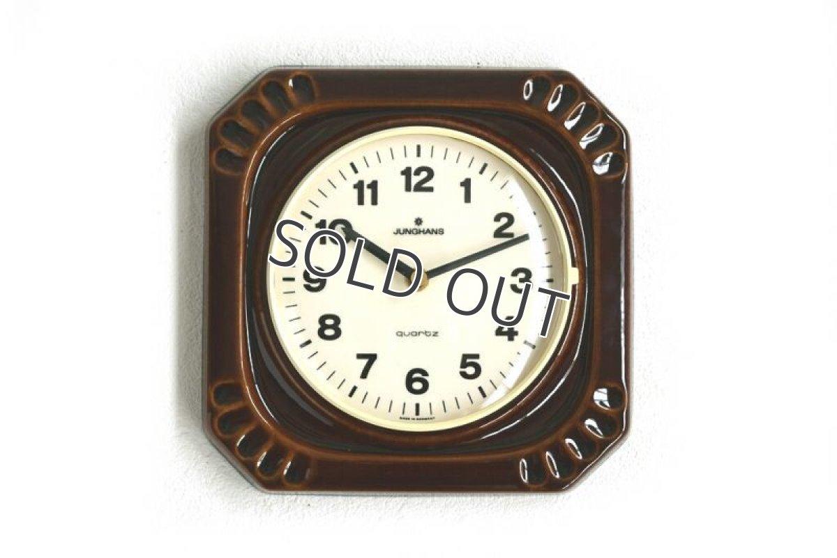 画像1: Junghans 陶器の壁掛け時計 (1)