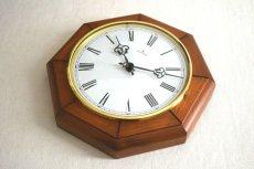 画像9: Junghans 木と真鍮の掛け時計 (9)