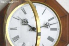 画像8: Junghans 木と真鍮の掛け時計 (8)