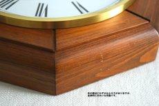 画像11: Junghans 木と真鍮の掛け時計 (11)