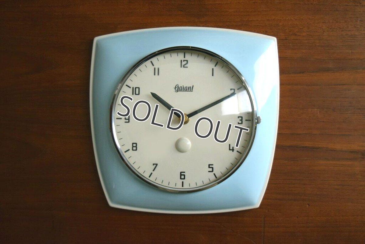 画像1: GARANT 陶器の壁掛け時計 (1)