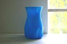画像1: ガラスのフラワーベース(花器) (1)