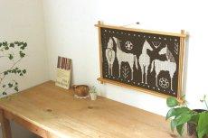 画像4: 木製フレームのタペストリー (4)