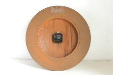 画像11: Junghans チークと真鍮の壁掛け時計 (11)