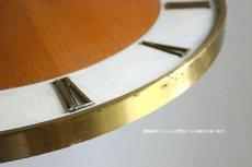 画像10: Junghans チークと真鍮の壁掛け時計 (10)
