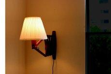 画像4: チークの壁付けランプ  (4)