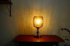 画像5: ガラスと真鍮のテーブルランプ (5)