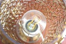 画像11: ガラスと真鍮のテーブルランプ (11)