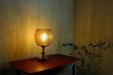 画像6: ガラスと真鍮のテーブルランプ (6)