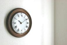 画像2: 木とホーローの掛け時計 (2)