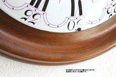 画像8: 木とホーローの掛け時計 (8)