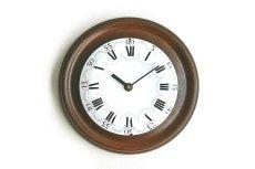 画像1: 木とホーローの掛け時計 (1)