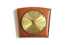 画像1: Diehl チークと真鍮の壁掛け時計 (1)