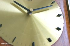 画像6: Diehl チークと真鍮の壁掛け時計 (6)