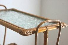画像8: 籐のマガジンラック付きテーブル (8)