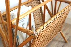 画像9: 籐のマガジンラック付きテーブル (9)