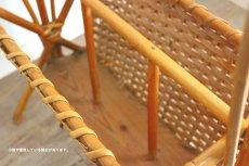 画像10: 籐のマガジンラック付きテーブル (10)