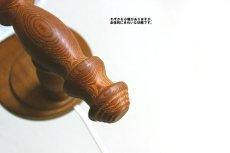 画像10: 木製の壁付けランプ (10)