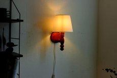 画像4: 木製の壁付けランプ (4)