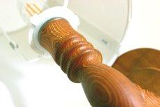 画像9: 木製の壁付けランプ (9)
