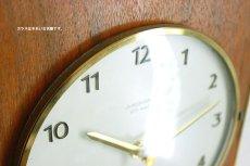画像6: Junghans チークと真鍮の壁掛け時計 (6)