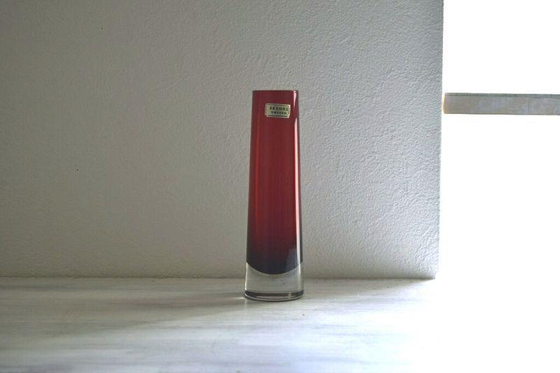 画像1: Ekenas glasbruk ガラスのフラワーベース(花器) (1)