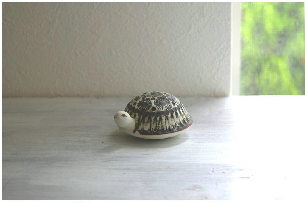 画像1: Gustavsberg Lisa Larson Skoldpaddor グスタフスベリ リサ・ラーソン 陶器のカメのフィギュア (1)