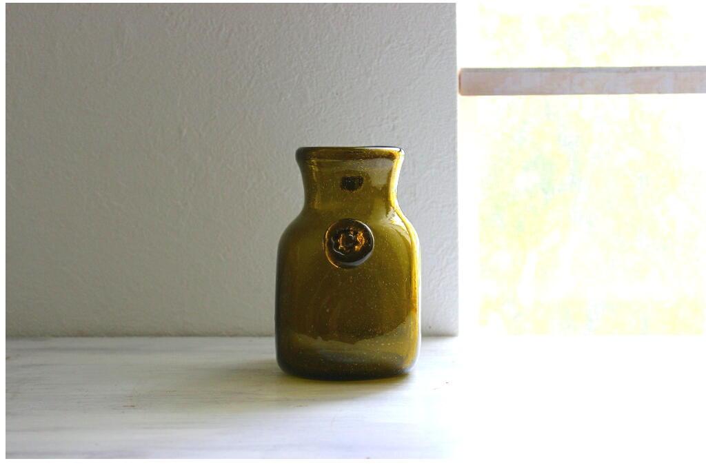 画像1: Stockholms glasbruk ガラスのフラワーベース(花器) (1)