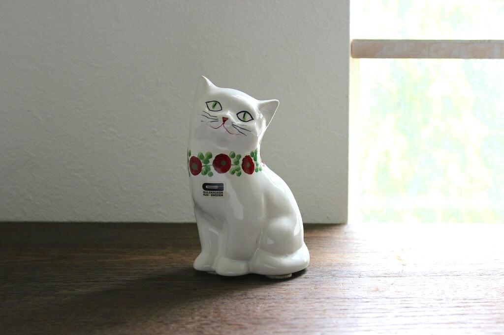 画像1: GULDKROKEN 陶器のネコの置物 (1)
