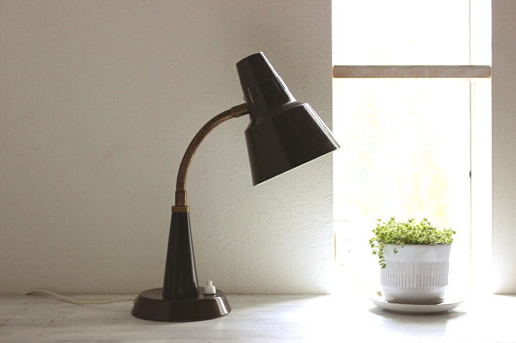 画像1: GEMI アルミと真鍮のテーブルランプ (1)