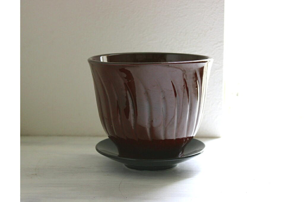 画像1: スウェーデンの陶器のプランター (1)