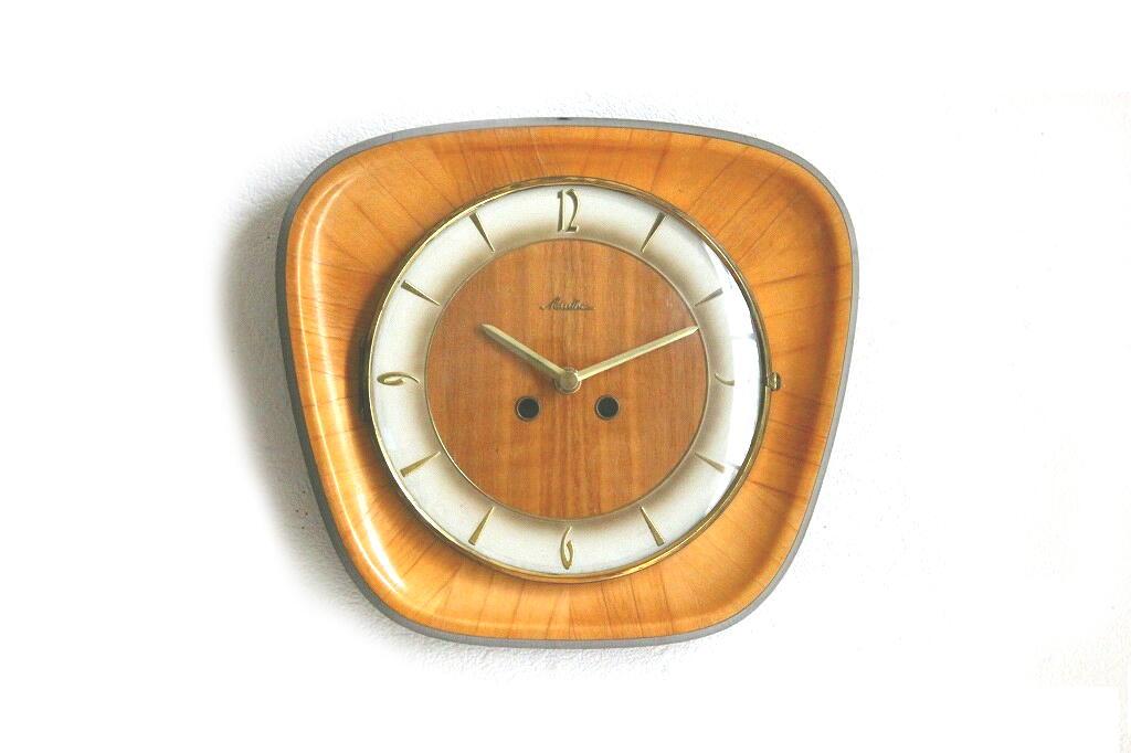 画像1: Mauthe 木製の壁掛け時計 (1)