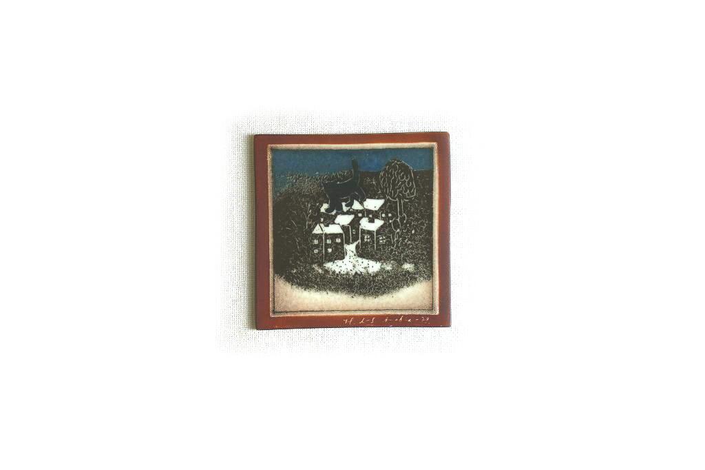 画像1: ARABIA  Helja Liukko-Sundstrom アラビア ヘルヤ・リウッコ・スンドストロム 陶板画 (1)