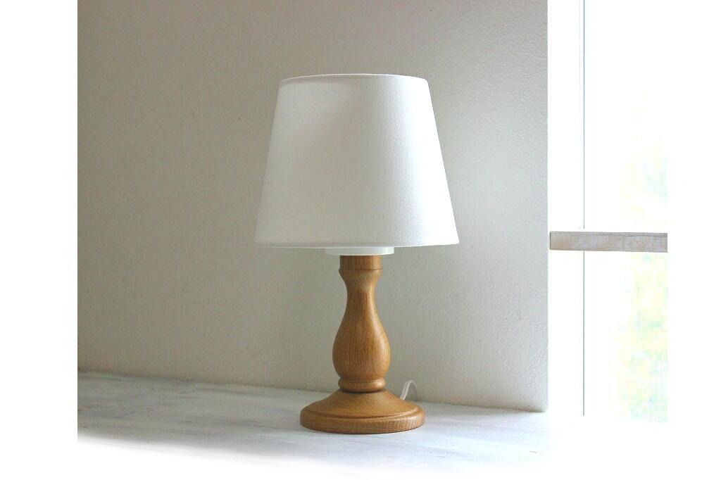 画像1: 木製テーブルランプ (1)