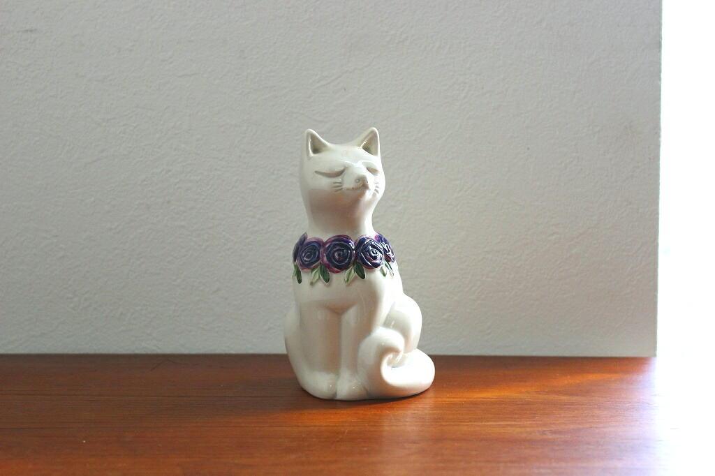画像1: Rosa Ljung 陶器のネコの置物 (1)