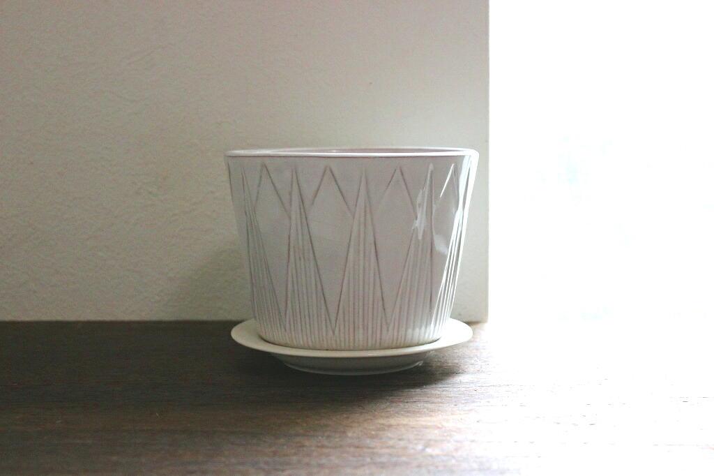 画像1: Upsala Ekeby 陶器のプランター(補修あり) (1)