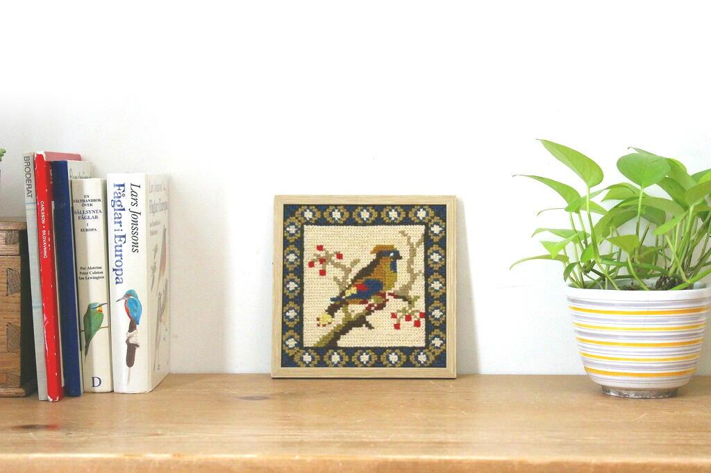 画像1: 刺繡の額装壁掛け (1)